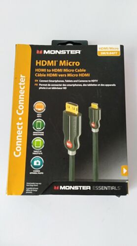 MONSTER HDMI MICRO - HDMI to HDMI Micro Cable - 3M/9.48FT Brand New
