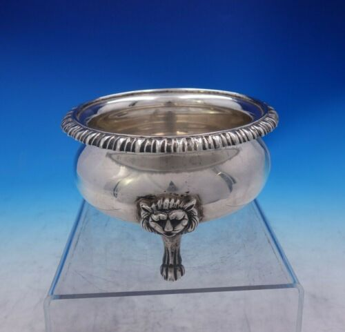Mexican Mexico Sterling Silver Sugar Bowl w/3-D Applied Lion Feet MS-28 (#3967)