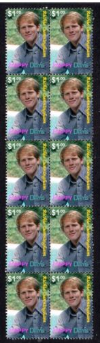 HAPPY DAYS STRIP OF 10 MINT TV VIGNETTE STAMPS, RICHIE