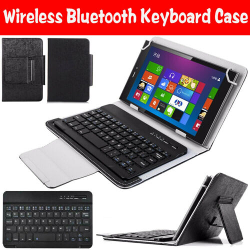 """For Lenovo Tab E10 M10 P10 10.1"""" Universal Bluetooth Keyboard Leather Case Cover"""