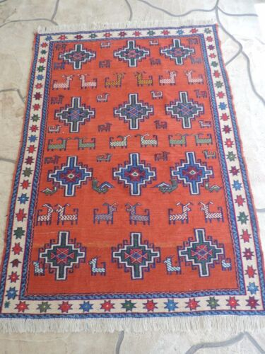 4x6ft. Turkish Shirvan Sumak Wool Rug