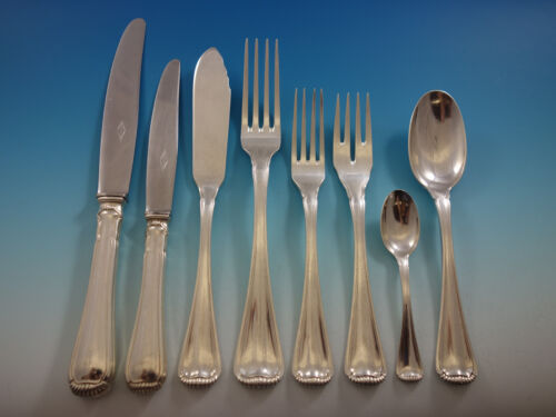 Milano aka Baguette by Ricci 800 Silver Flatware Set Service 152 Pieces