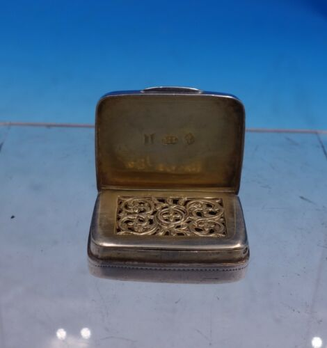 Matthew Lindwood English Georgian Sterling Silver Vinaigrette GW Interior #4078
