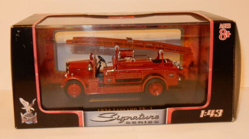 b YATMING YAT MING SIGNATURE CAMION 1934 LEYLAND FK-1 POMPIERS FIRE TRUCK 1/43