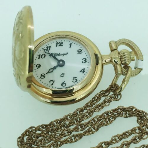 45/03R CLASSIQUE LADY ROSE GOLD PLATED PENDANT WATCH