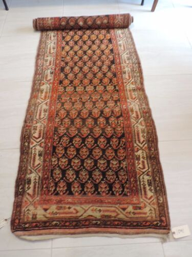 3x12ft. Antique Handwoven Long Wool Runner