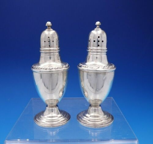 English Gadroon by Gorham Sterling Silver Salt Pepper Shaker Pair #24 (#4361)