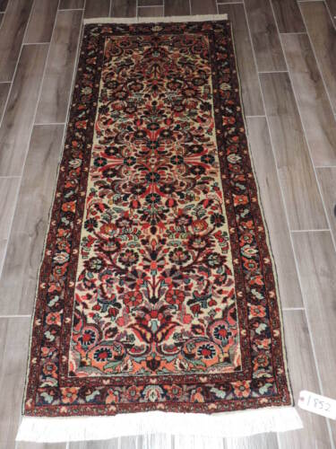 3x7ft. Vintage Colorful Borchalou Wool Runner