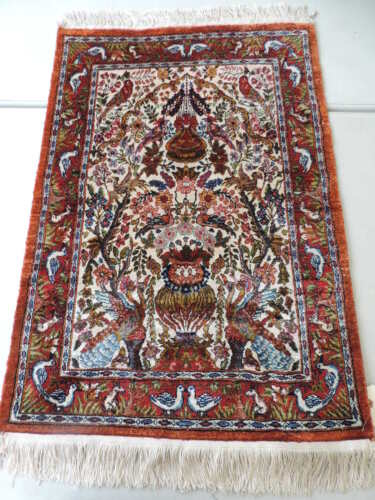 2x3ft. Exquisite Silk Handmade Egyptian Small Rug