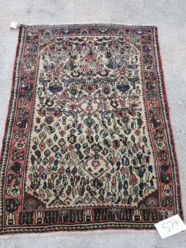 3x4ft. Vintage Malayer Hamedan Wool Rug