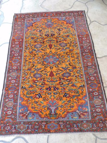 4x6ft. Vintage Malayer Wool Rug