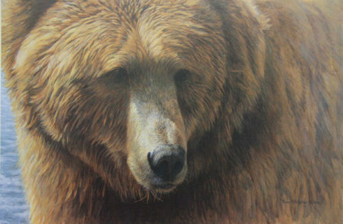 Grizzly Head Portrait by Robert Bateman Limited Edition