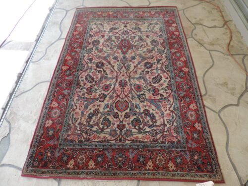 5x7ft. Antique Handmade Oriental Wool Rug