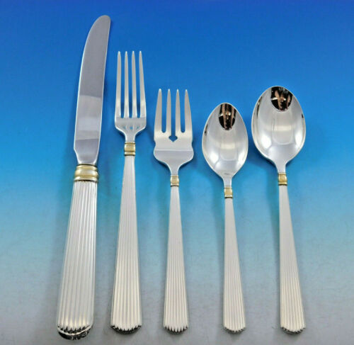 Ashmont Gold by R&B Sterling Silver Flatware Set for 8 Service 40 pcs Dinner