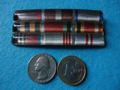 = 9 Soviet Ribbon Bars WWII Medals-Orders with Pinback 197x-198x =Original Period Items - 13983