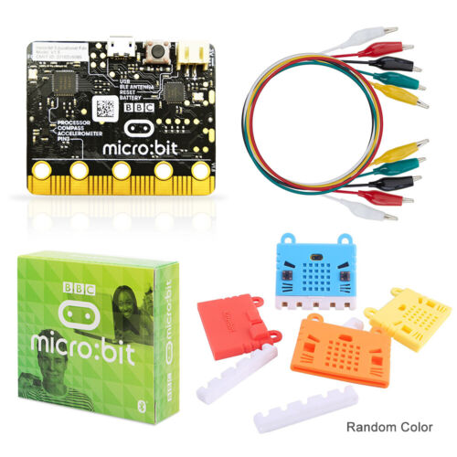 BBC Micro:bit starter Kit with Alligator Clips Silicone Protective Case