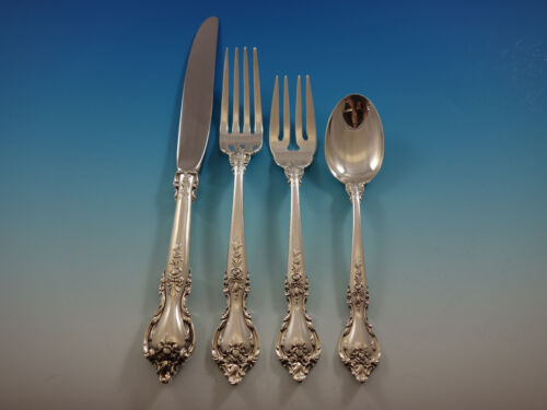 Delacourt by Lunt Sterling Silver Flatware Set for 8 Service 38 pieces