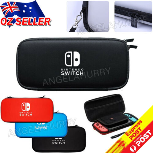 Nintendo Switch Shell Carrying Case Protective Cover Storage Bag +Tempered Glass