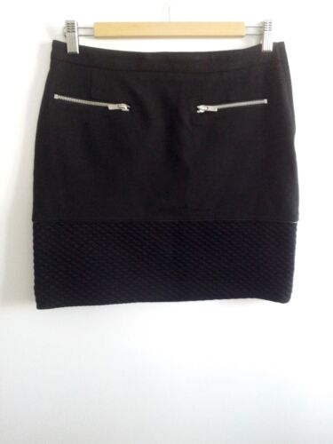 Claudie Pierlot size 36 black viscose lined straight skirt, above knee