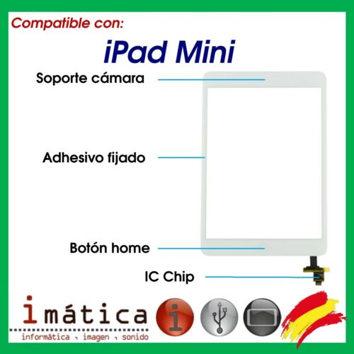 Screen Touch for IPAD Mini White Ic Chip Button Home Support Camera Adhesive