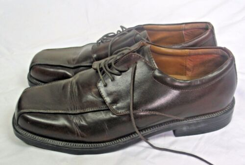 Brown leather casual lace up shoes BARRATTS UK 10