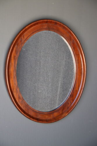 Antique French Empire early 19th century mirror in mahogany with original glass