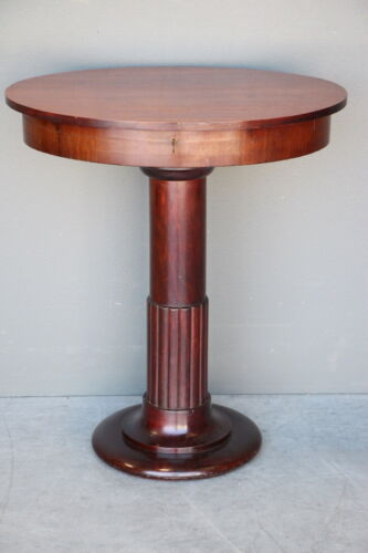 Antique Art Deco oval table fitted interior 1910 Biedermeier revival original