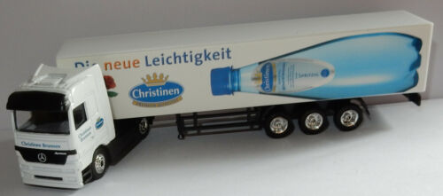 HIGH SPEED HO 1/87 CAMION REMORQUE MB ACTROS CHRISTINEN EAU MINERALE