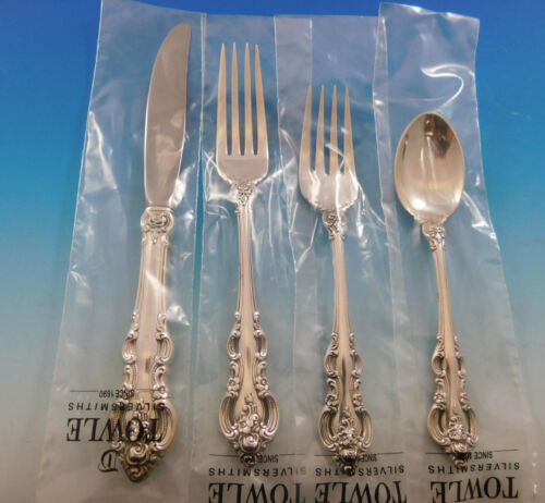 El Grandee by Towle Sterling Silver Flatware Set for 8 Service 35 pieces New