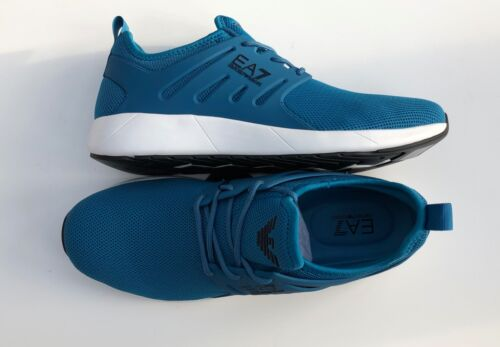 EMPORIO ARMANI EA7 Turquoise Trainers Sneakers Runners Size UK 6 BNIB
