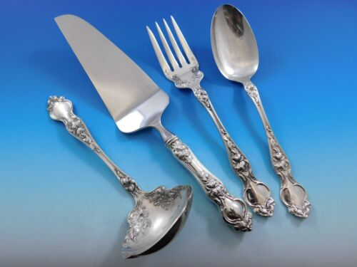 Violet by Wallace Sterling Silver Essential Serving Set Large 4-piece