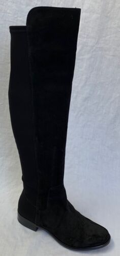 BNIB Clarks Caddy Belle Black Suede and Elastic Over The Knee Boots