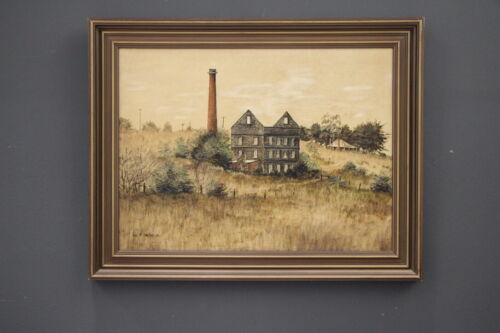 Rare original oil painting Colonial Old Mill at Malmsbury signed by Ian Stephens