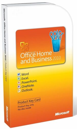 Microsoft Office Home and Business 2010 (64bit)Product Key Card-CAN POST & EMAIL