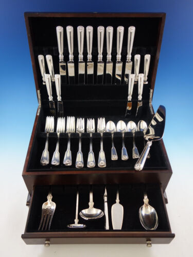 Shell and Thread by Tiffany Sterling Silver Flatware Set Service 47 pieces