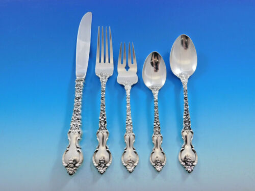 Du Barry by International Sterling Silver Flatware Service For 12 Set 60 Pieces