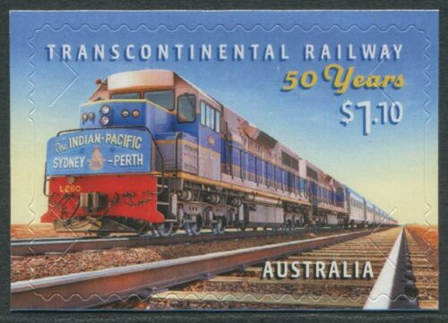 TRANSCONTINENTAL RAILWAY 50 YEARS 2020 - MINT EX-BOOKLET SELF-ADHESIVE (G93)