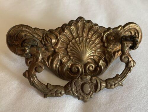 """French Country Brass Art Nouveau Victorian Antique Hardware Drawer Pull 3""""center"""