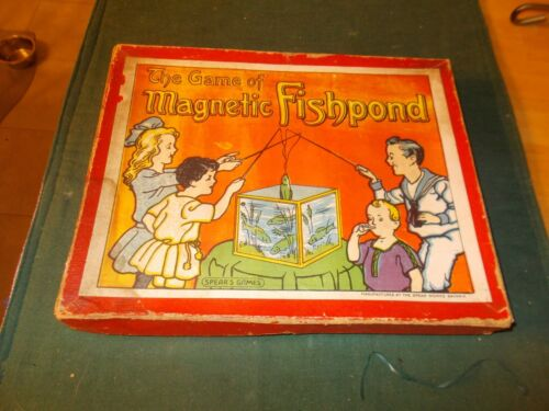 EARLY 1900S THE GAME OF MAGNETIC FISHPOND MADE BY THE SPEAR WORKS BAVARIA
