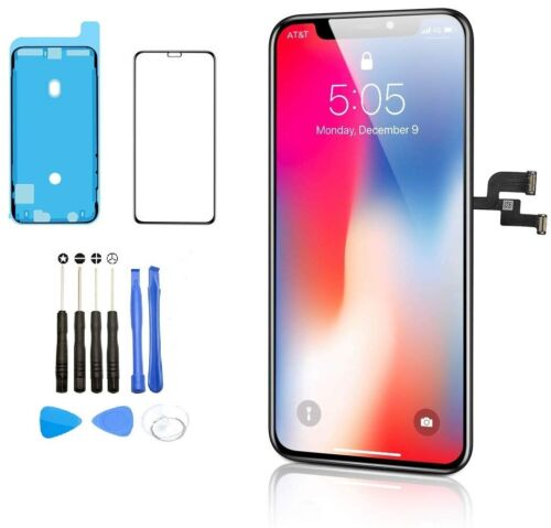 Apple iPhone 10 X XR XS Max 11 Pro OLED LCD Display Touch Screen Replacement Lot <br/> FREE Tempered Glass Screen Protector and Repair Tools!