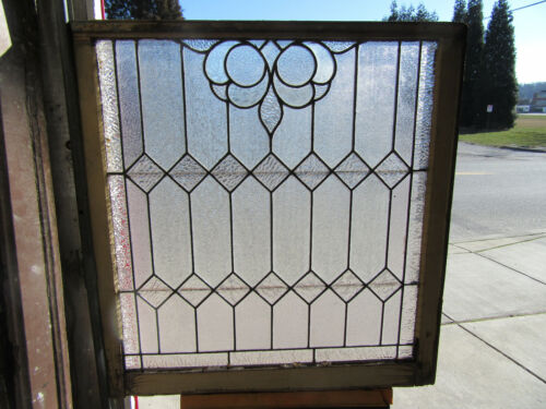 ~ ANTIQUE STAINED GLASS WINDOW ~ 34 X 36 ~  ARCHITECTURAL SALVAGE ~