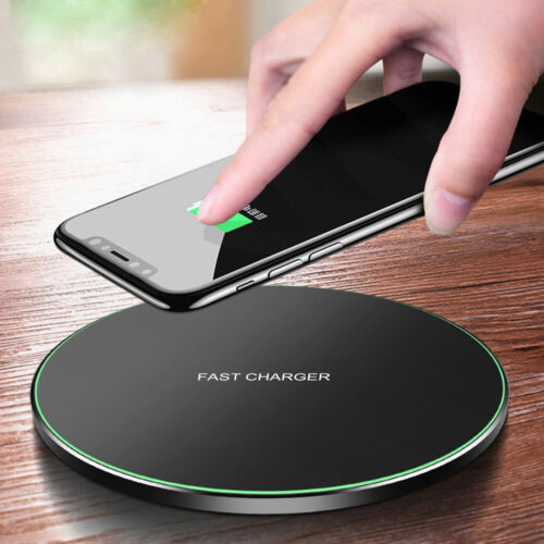 15W Metal Qi Wireless Charger Fast Charging Mat For iPhone 12Pro Max Samsung S20