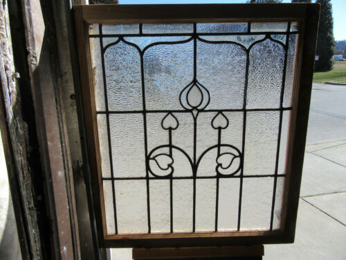 ~ ANTIQUE STAINED GLASS WINDOW ~ 34 x 37.75 ~ ARCHITECTURAL SALVAGE ~
