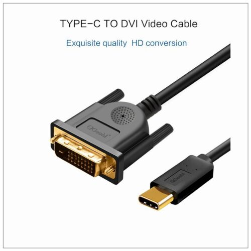 1.8M USB Type C USB-C Thunderbolt 3 to DVI Cable Male to Male Converter