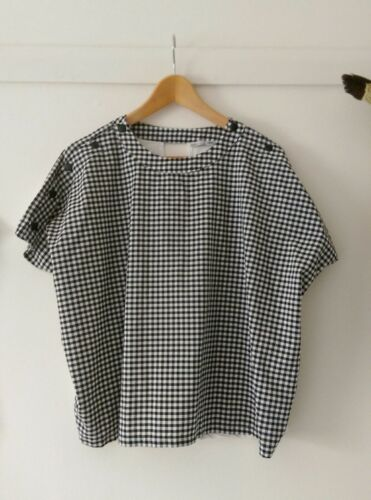 ZARA GRAY WHITE SOFT JUMPER SWEATER TOP WITH FRILL RUFFLE SLEEVES S M RARE