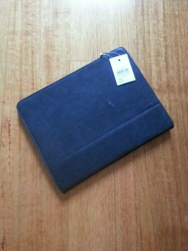 BNWT - Fossil Estate Tablet Easel Case Black Cow Hide Leather