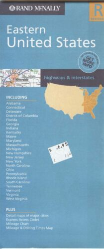 Rand-McNally regional state map:  EASTERN UNITED STATES - c.2004 - paper