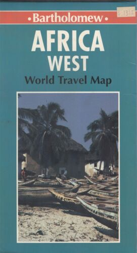 HarperCollins Bartholomew Map AFRICA WEST world travel © 1993 - 41 by 32 inches