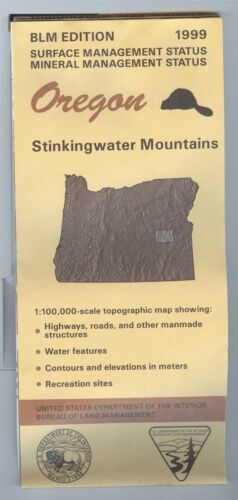 USGS BLM edition topographic map Oregon STINKINGWATER MOUNTAINS 1999 mineral