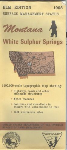 USGS BLM edition topographic map Montana WHITE SULPHUR SPRINGS -1995- surface